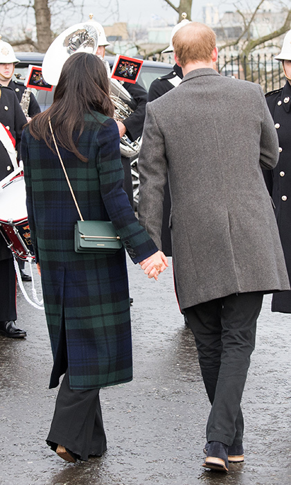 <p>Despite typical royal protocol, Meghan and Harry clasped hands while on a visit to Edinburgh.</p>