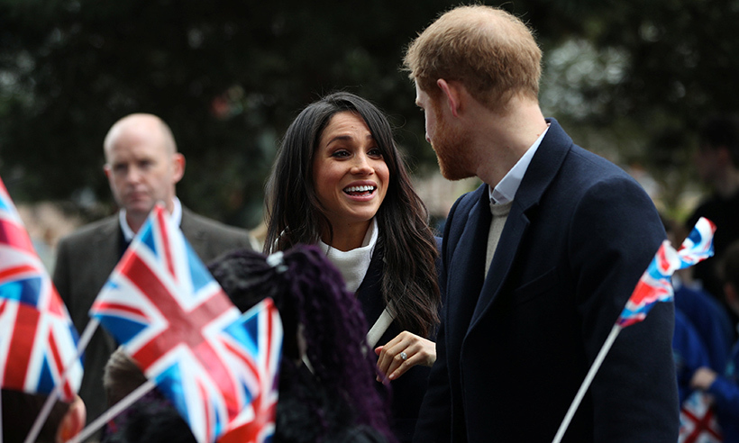 <p>Meghan only had eyes for Harry while out and about in Birmingham.</p>