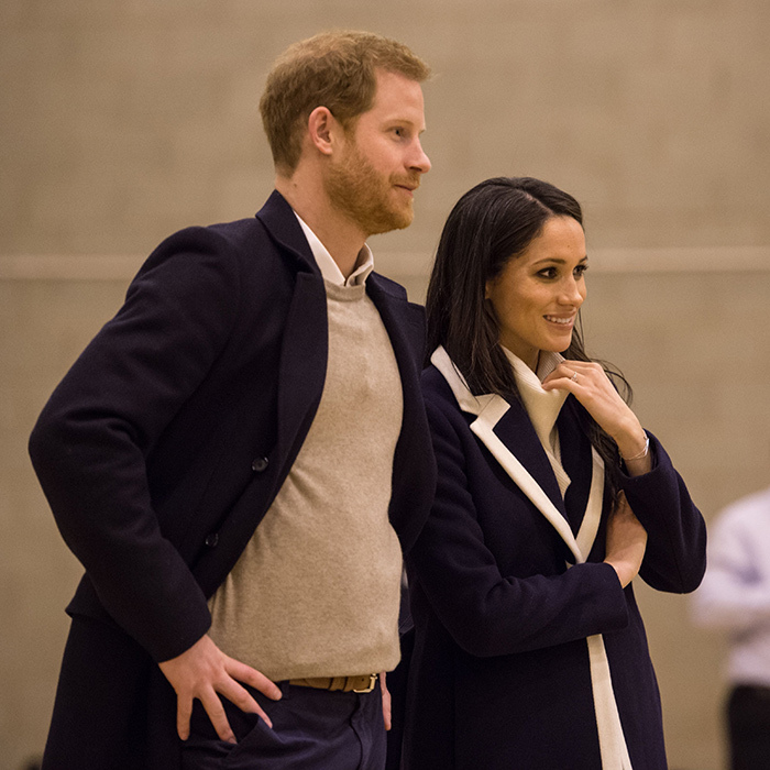 <p>The prince kept Meghan close by his side.</p>
