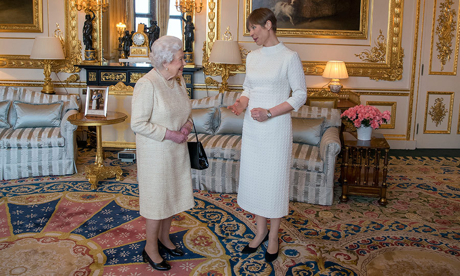 <p>Her Majesty welcomed Kersti Kaljulaid, President of Estonia, during a private audience at Buckingham Palace on March 28.</p>