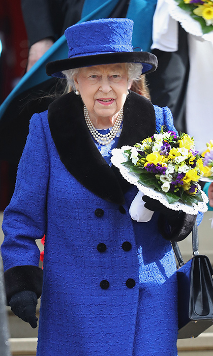 <p>Her Majesty looked stunning in royal blue during the Royal Maundy celebrations on March 29. The Queen spent time handing out Maundy money to the public at St. George's Chapel in Windsor Castle. Because she is in her 92nd year, she handed out money to 92 men and 92 women.</p>