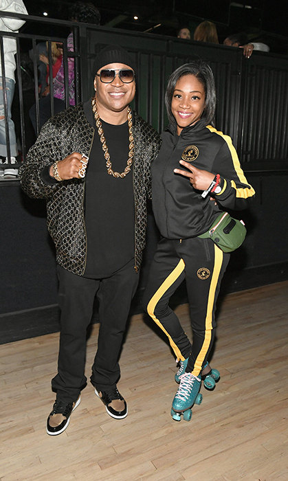 <p>Rapper LL Cool J and Tiffany Haddish posed together at the launch of his exclusive SiriusXM channel 'Rock The Bells Radio' on March 28.</p>