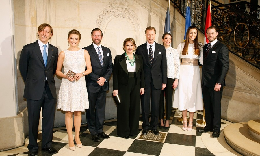 <p>It was a family affair for the Luxembourg royals! Prince Louis, Hereditary Grand Duchess Stephanie, Hereditary Grand Duke Guillaume, Grand Duchess Maria Teresa, Grand Duke Henri, Princess Alexandra, Princess Claire and Prince Felix looked sharp for a reception hosted by Grand Duke Henri at Paris' Rodin Museum during the royals' state visit to France.</p>