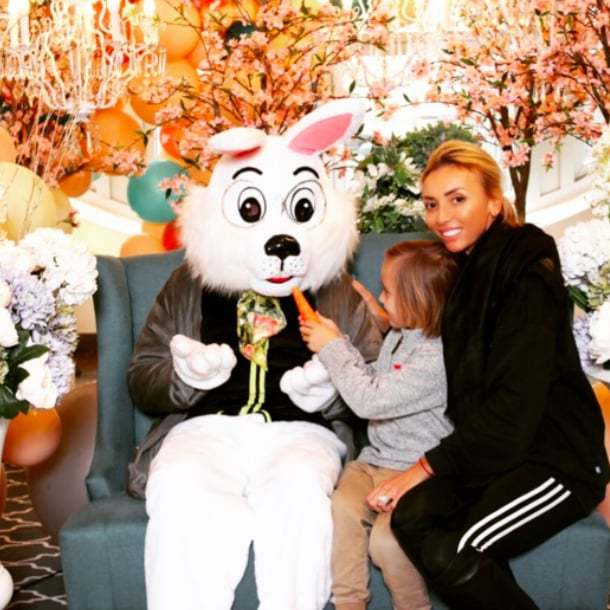 "<p>Giuliana Rancic and her son, Edward, cozied up with an adorable Easter bunny to celebrate the holiday. She wrote, ""We love the Easter "". So do we, Giuliana!</p>