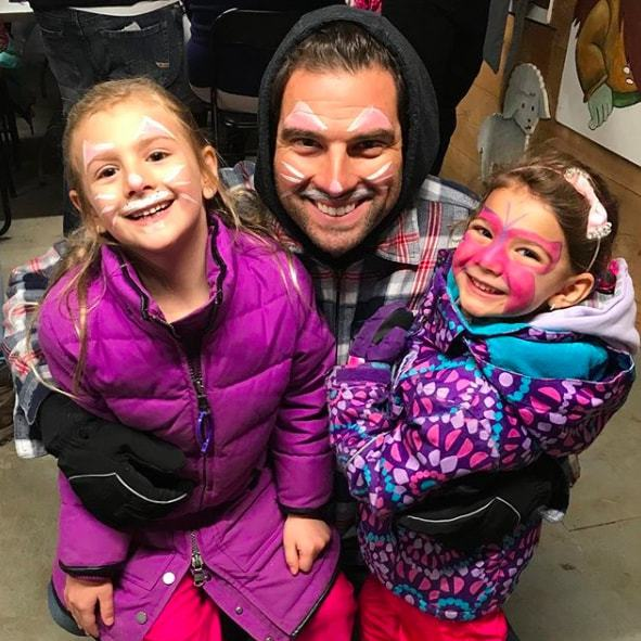 "<p>HGTV's Scott McGillivray got in the Easter spirit with his two daughters, Myah and Layla. Showing off their amazing face paint, he captioned the snap, ""Getting in to the Easter spirit with the girls.""</p>