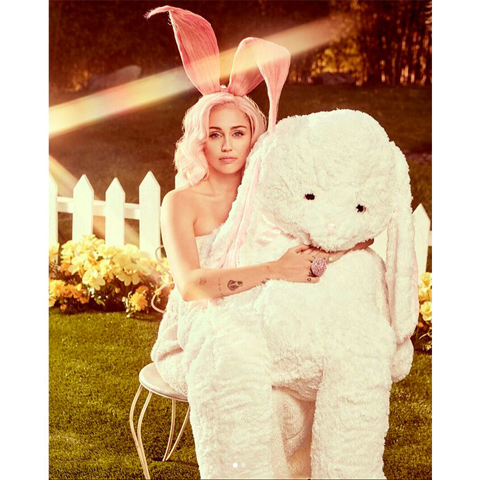 <p>Miley Cyrus shared numerous photos from her Easter-themed <em>Vogue</em> photoshoot on Instagram.</p>