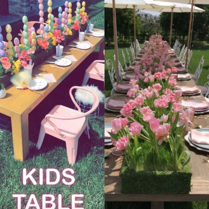 Kylie Jenner treated fans to a glimpse of her gorgeous Easter party, complete with the cutest kids table ever! Kim Kardashian West, Kourtney Kardashian, Kris Jenner and Kylie were all on hand for the April 1 shindig.