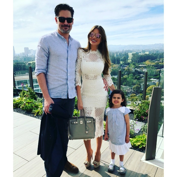 "Sofia Vergara and Joe Manganiello posed with her adorable niece Gia looking picture perfect in their Sunday best. ""Family Brunch Happy Easter,"" the <em>Modern Family</em> star wrote alongside the stunning snap on her Instagram, which appeared to be taken at a rooftop restaurant. 