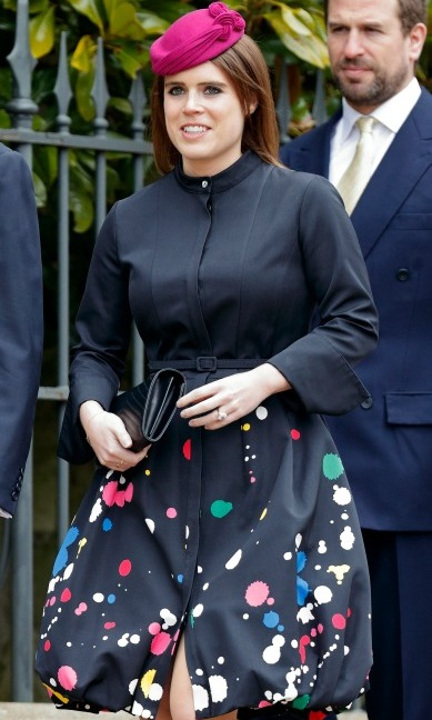 Princess Eugenie attended Easter services with the Royal Family in a stunning dress by Oscar de la Renta.