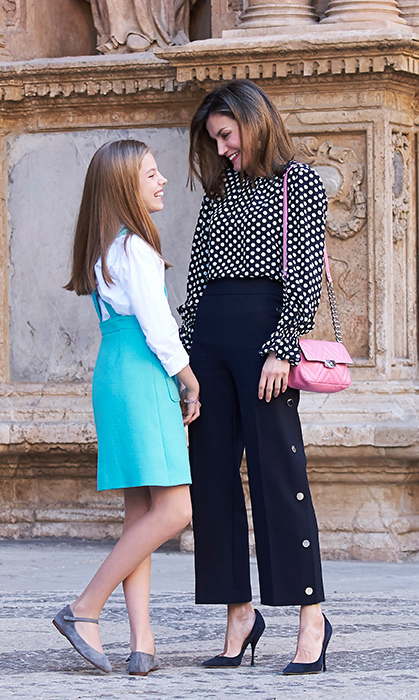 <p>Queen Letizia and her daughter Infanta Sofia shared a sweet laugh after Easter Sunday mass.</p>