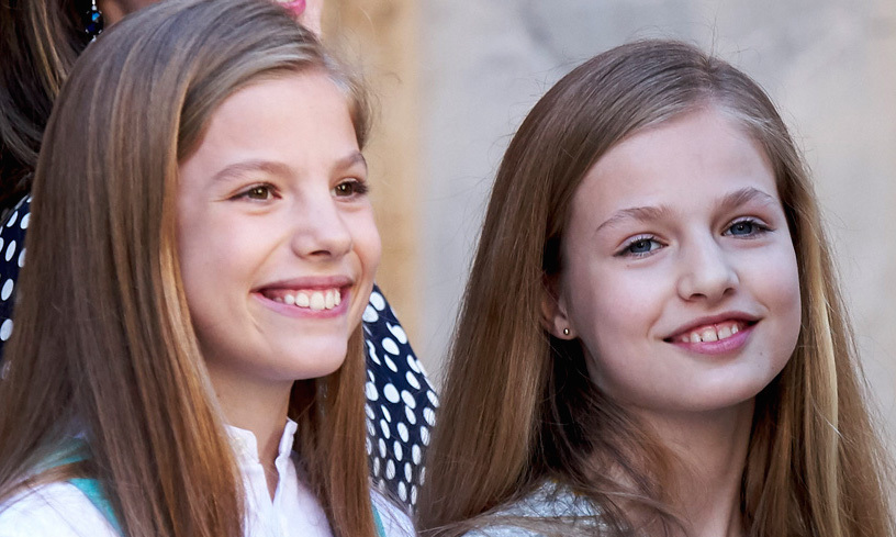 Princess Leonor And Infanta Sof 237 A Of Spain Received The