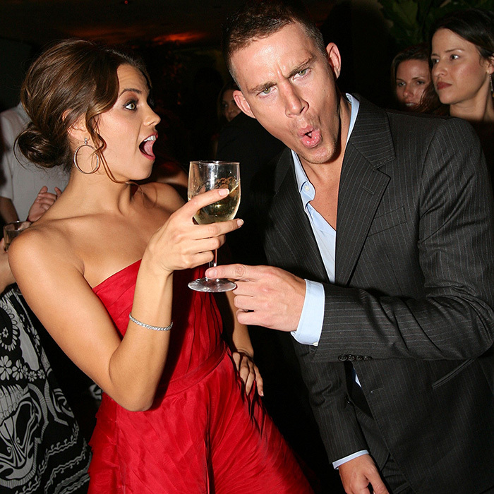 <p>Back in the early days of their blossoming relationship, Jenna and Channing got a little goofy at the after-party for their dance flick <em>Step Up</em>. This <em>may</em> have been the exact moment Jenna first fell in love with her co-star – three years later, they were married!</p>