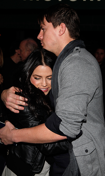 <p>He always has her back. While out on the town in Los Angeles the year after they exchanged wedding vows, Channing gave his wife a tight squeeze. These two were not afraid of a little PDA!</p>
