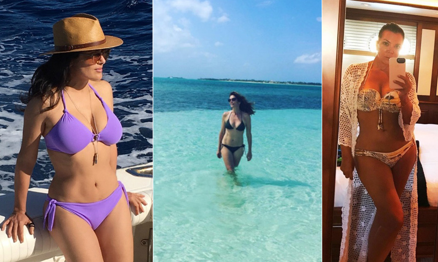 <p>We all say age is just a number – but looking at these celebrities in bikinis, we actually believe it! These Hollywood beauties are all over 50 and confidently show off their bikini bodies, giving us all a major dose of inspiration.</p>