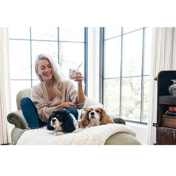 <p>Julianne Hough may have found her prince charming in husband Brooks Laich, but her heart belongs to her adorable Cavalier King Charles Spaniels, Lexi and Harley. </p>