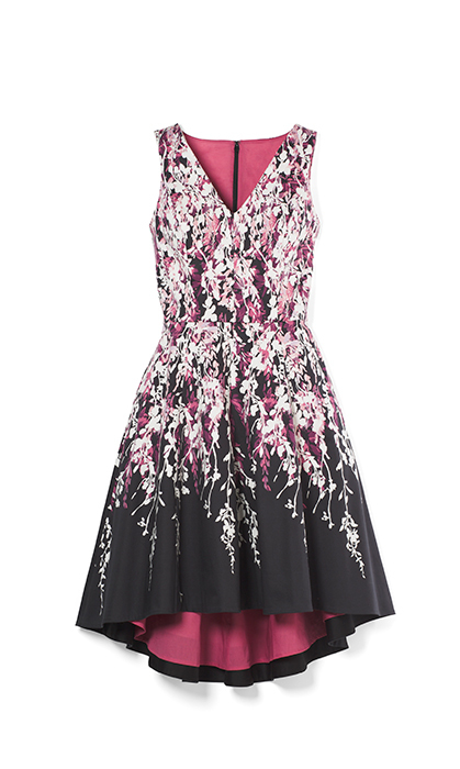 <p>Reach for this floral fit-and-flare dress for a royal-inspired look. The attention to detail with the bright pink lining makes it look much more expensive than its price tag.</p>