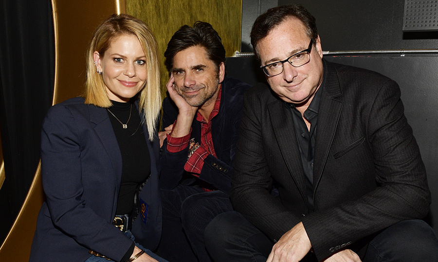<p>A <em>Full House</em> reunion! Candace Cameron-Bure, John Stamos and Bob Saget paused for a major throwback photo at the premiere of <em>Benjamin</em> on April 4.</p>