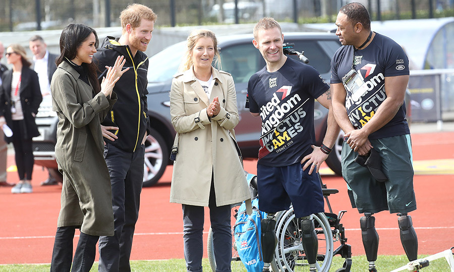 The couple spent time chatting with Invictus Games hopefuls.