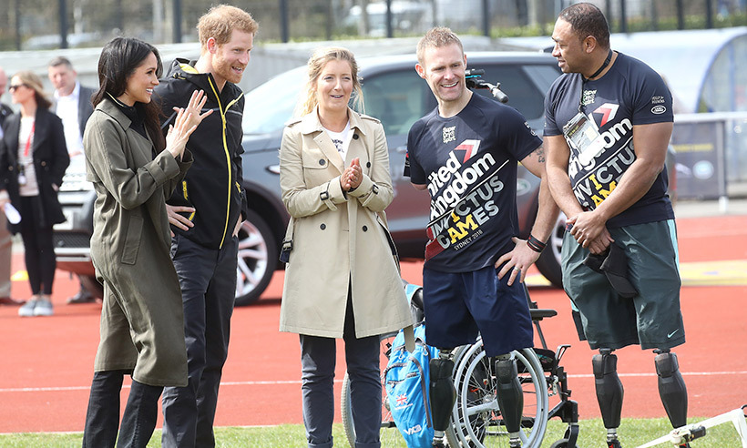 Meghan stepped out with fiance Prince Harry at the tryouts for the 2018 Invictus Games in Bath. 