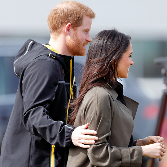 <p>The prince kept his fiance close as he showed her around the Invictus Games tryouts in Bath.</p>