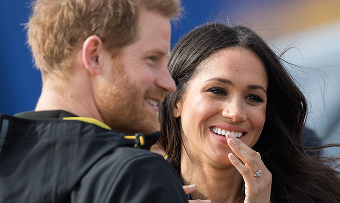 <p>The cute couple shared a laugh in Bath.</p>