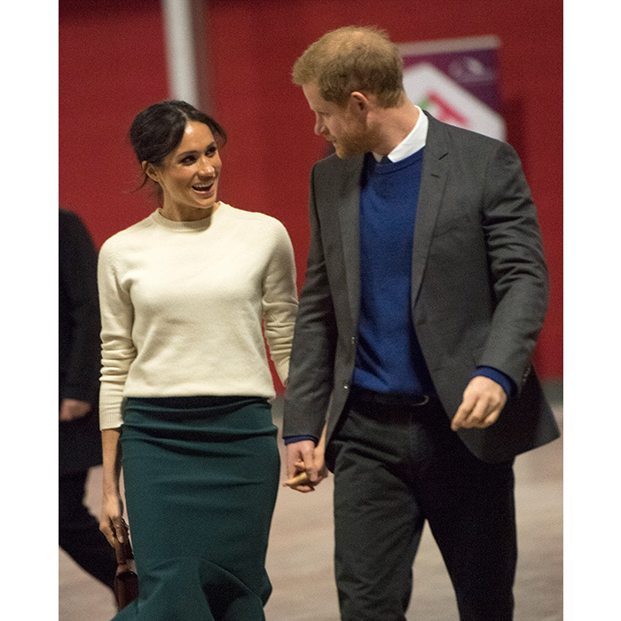 <p>Fingers entwined and gazes locked, the lovebirds were on cloud nine in Belfast!</p>
