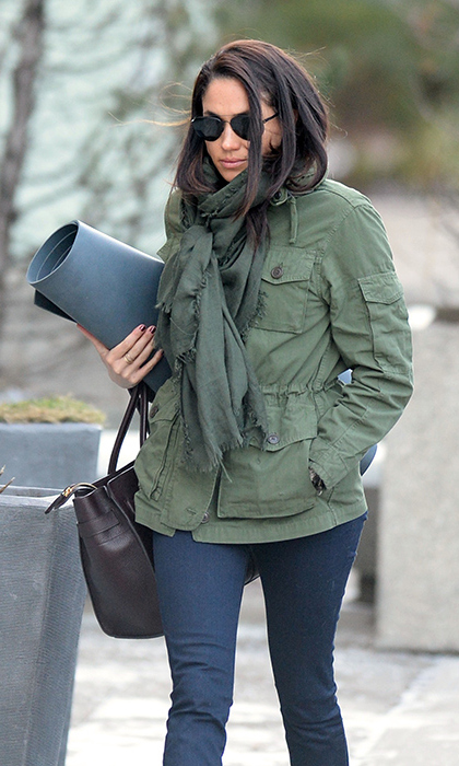 Meghan's mom Doria is a yoga teacher, so she's said the practice is 'in her blood.'