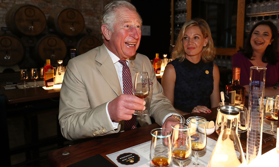 Prince Charles got the weekend started early with a visit to the Bundaberg Rum distillery in Bundaberg. He was able to take part in a taste test and learn about the product.
