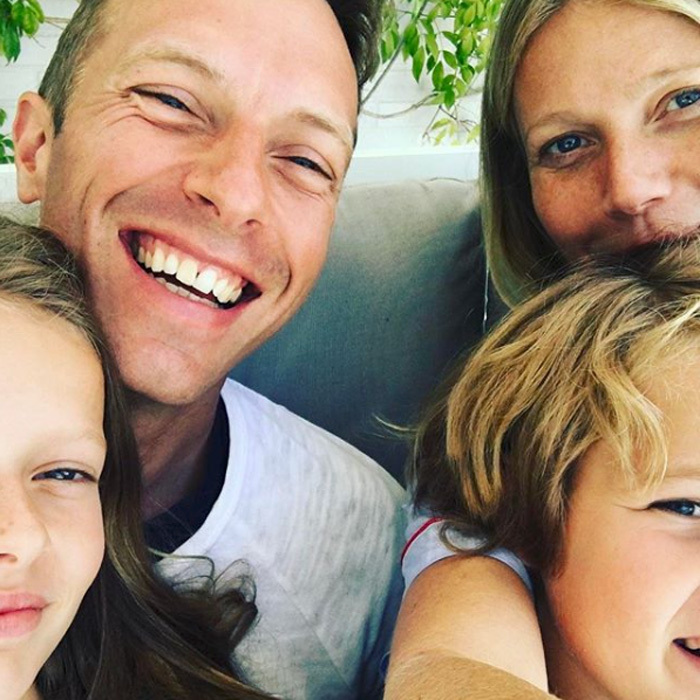 The actress shares two children with her ex-husband, Chris Martin. 