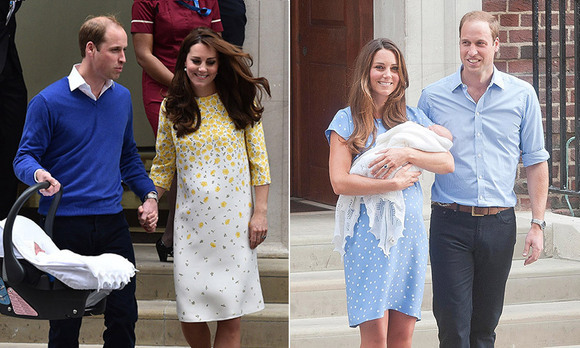 As we await the arrival of Prince William and Kate's third royal baby, we're looking back on the precious moments that marked their other two childrens' first introductions to the world. Click through to see the world's first glimpse of Prince George and Princess Charlotte outside the exclusive Lindo Wing of London's St Mary's Hospital...