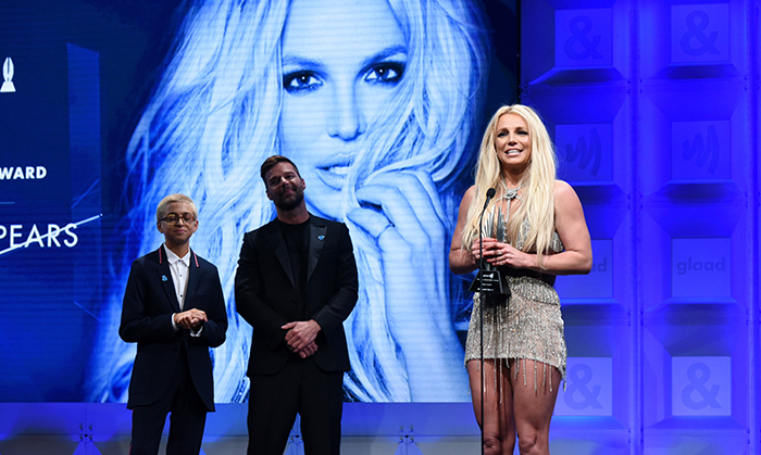 "Host Wanda Sykes joked that Britney Spears broke the GLAAD Awards after accepting the Vanguard statue from Ricky Martin. A longtime advocate for the LGBT community, the crowd went wild for the singer, who said, ""Wow, this is so incredibly amazing!"" After the gay icon departed the stage things started to fall apart, with people leaving their seats and production at a stand-still. The power of Britney, y'all! 