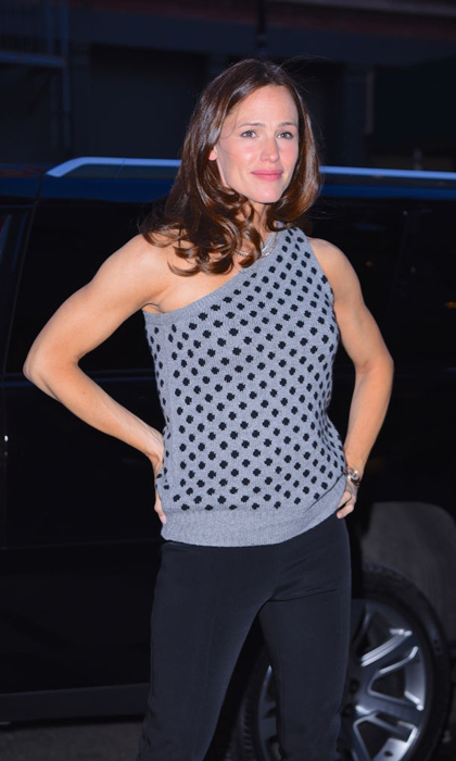 "Jennifer Garner gave a <em>Wonder Woman</em> pose while stepping out in NYC with those impressive toned arms. The actress has been training for her new action movie Peppermint and getting extra fit in the process. A few months prior, the mom-of-three credited Body by Simone for the ""recipe for turning a mom back into action lady.""