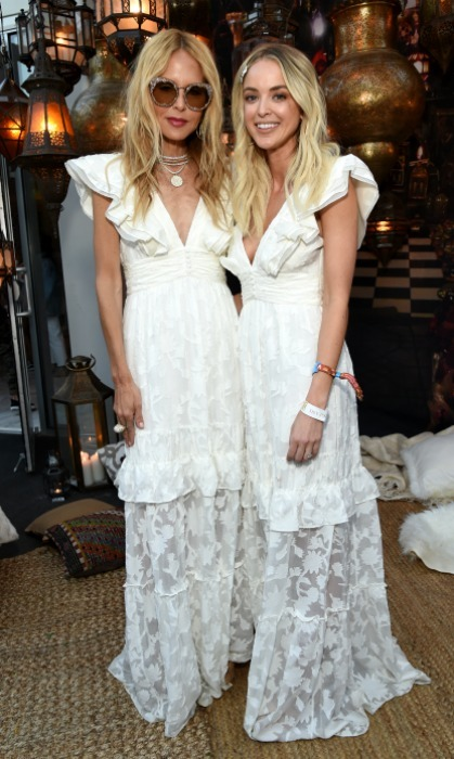 "<p>Twinning! A funny moment ocurred when influencer Kaitlynn Carter showed up wearing the same exact dress as Rachel. The pair posed together for a festive ""who wore it best"" pic.</p>