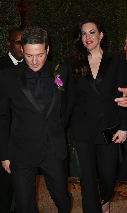 <p>Liv Tyler was positively glowing alongside her handsome husband David Gardner. The 40-year-old actress and Gwyneth are long-time friends, so it's no surprise Liv was there to help celebrate her engagement.</p>