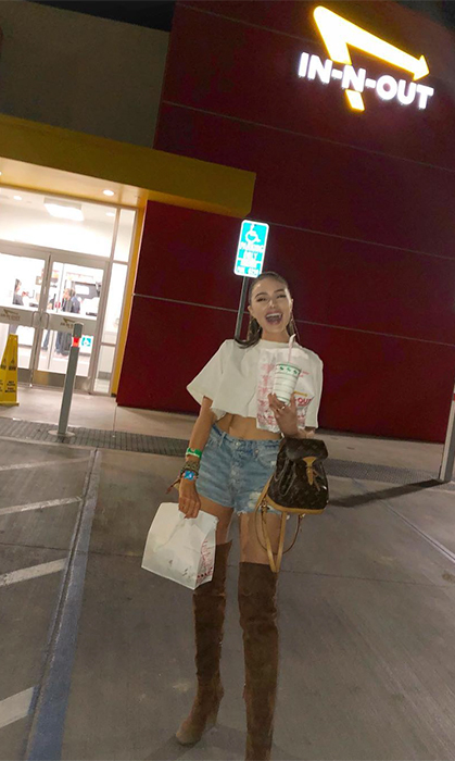 "<p>Olivia Culpo got a little hungry and made a pitstop at In-N-Out, ""About last night"".</p>