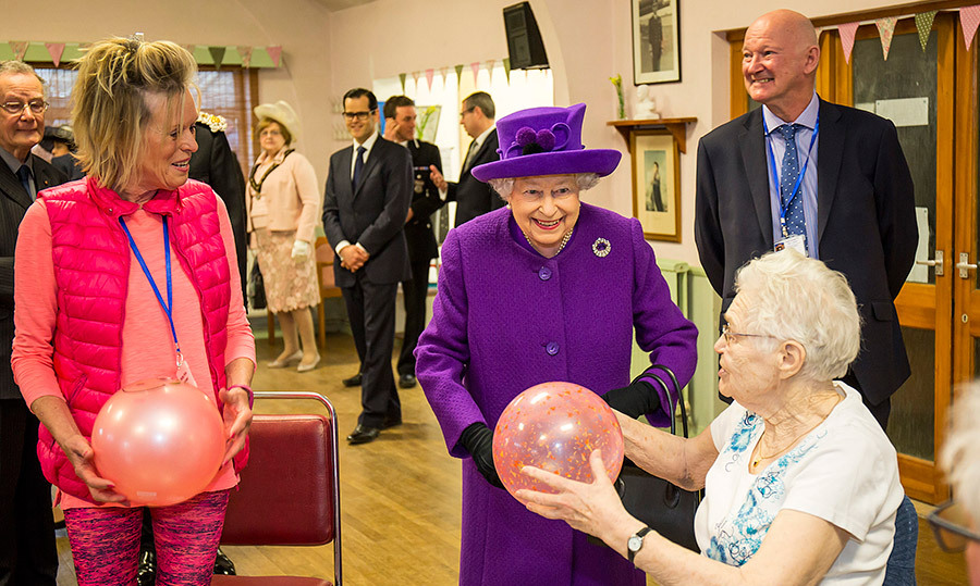 <p>Queen Elizabeth paid a visit to seniors during their exercise hour at King George VI Day Centre on Apr. 12.</p>