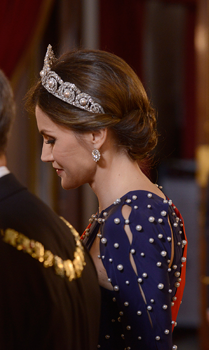 <p>While hosting a special dinner gala on Apr. 16, Queen Letizia donned a rather special tiara. The dazzling piece belongs to her mother-in-law, Queen Sofia, and while the royal has worn it before, it carries a particular significance now.</p>