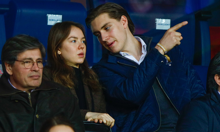 <p>Date night! Princess Alexandra of Hanover and her boyfriend Ben-Silvester Strautmann took in a soccer match on Apr. 15 at Parc des Princes stadium.</p>