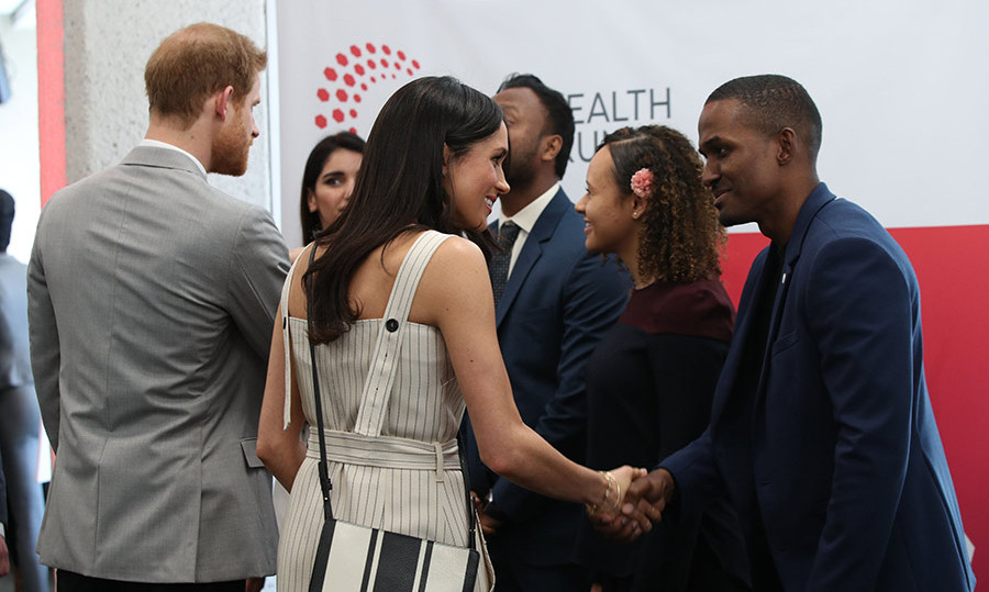 <p>The couple appeared to be in great spirits as they mingled with delegates at the Commonwealth Youth Forum.</p>