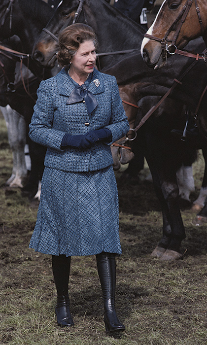 <p>Ever the horse lover, she attended the Royal Windsor Horse Show in 1979.