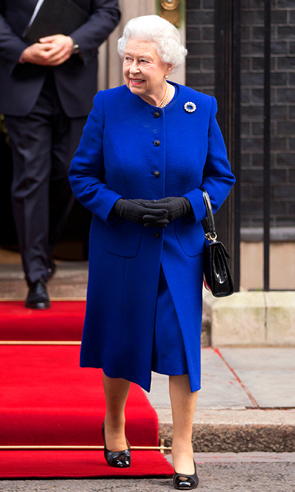 <p>This has to be one of our favourite blues! She stepped out in 2012 for the government's weekly cabinet meeting in London.