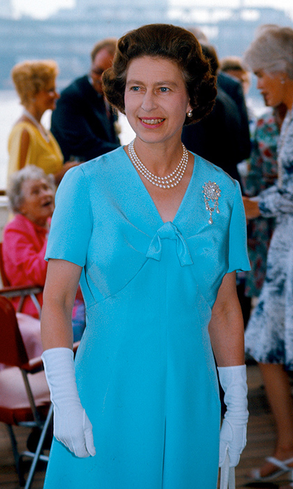 <p>Queen Elizabeth rocked this stunning blue while on a U.S. state visit in 1976.