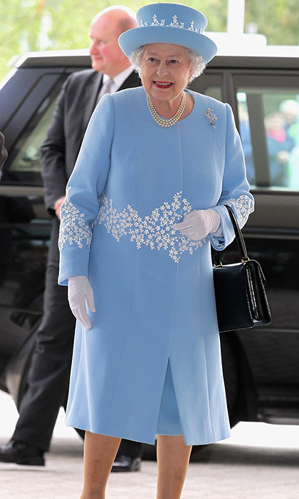 <p>She also stepped out in blue on a Diamond Jubilee visit to Northern Ireland in 2012.
