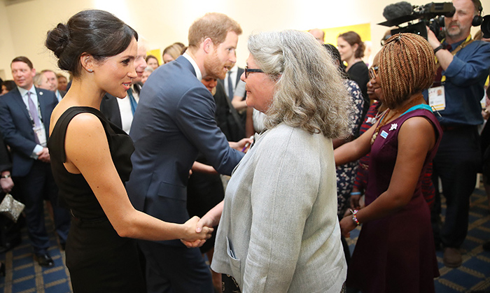 "<p>The royal couple – who will say ""I do"" on May 19 – graciously chatted with event attendees.