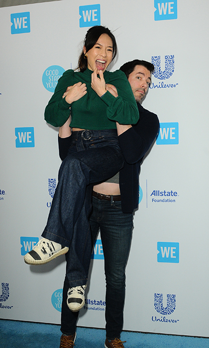 <p>Drew Scott gave fiancé Linda a lift at WE Day!