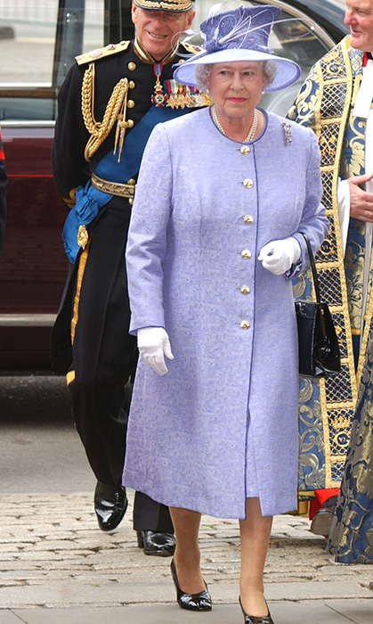 <p>At Westminster Abbey in 2003, the royal dazzled in this elegant purple number. She was out in London to commemorate the 50th anniversary of the end of the Korean War.