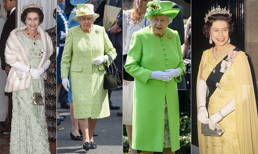 <p>There aren't many people who can pull off vibrant lime greens and sunny yellows as well as <a href=/tags/0/queen-elizabeth-ii><strong>Queen Elizabeth</a></strong> can! She's chosen this range of hues for numerous royal trips abroad, Christmas celebrations and even her big 90th birthday. 