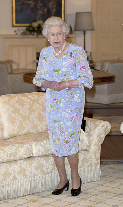 <p>Of course, Queen Elizabeth looks amazing in pastels, and this floral number she wore on a state visit to Australia in 2010 is no exception.