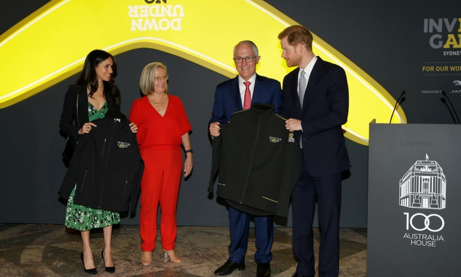 At the reception, which was hosted by Australia's Prime Minister Malcolm Turnball and his wife, Lucy Turnball, the couple learned more about how plans are progressing for this year's Games. 