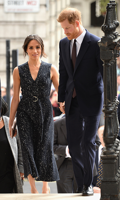 <p>Just hours after their nephew was born on April 23, Meghan and Harry stepped out again for a memorial service for Stephen Lawrence.